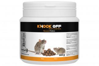De Knock Off Reward Pellets voor muizen & ratten geeft hoge vangstresultaten. De pellet kan eenvoudig op eenmuizen- ofrattenklemworden aangebracht. Perfect in combinatie metinloop- endoorloopvallen om levende vangst te realiseren.