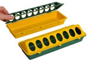 Kuikenvoerbak kunststof geel/groen