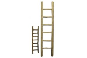 Ladder teakhout XL