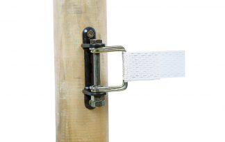 Hoek isolator met beugels voor lint van 40-60 mm