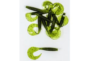 Lion Onyx Curly Tail Worm Dark Green Glitter