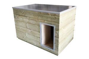 Maatwerk hondenhok Nature met plat dak