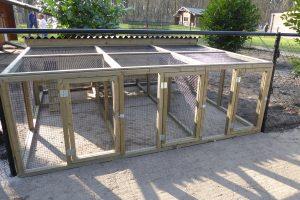 Maatwerk kippen- en knaagdierren 3-delig met nachthokken