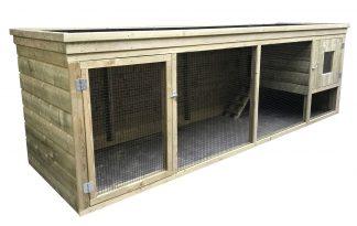 Dit maatwerk kippenhok met plantenbak komt uit eigen productie en is van zware en degelijke kwaliteit. De kooi is gemaakt van geïmpregneerd hout.
