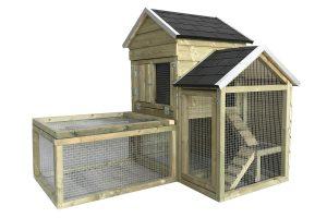 Maatwerk konijnenhok villa model