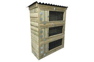 Maatwerk outdoor konijnenflat 3-laags