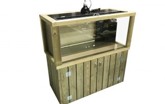 Maatwerk waterschildpadden aquarium met kast