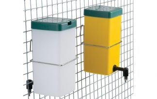 Drinkfles klepdeksel geel en wit 1 liter