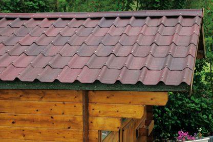 Onduline dakpannen gevlamd rood