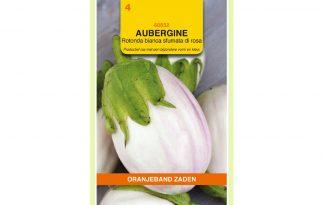 Oranjeband Zaden aubergine Rotonda bianca sfumata di rosa