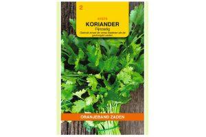 Oranjeband Zaden fijnzadige koriander (Coriandrum sativum)