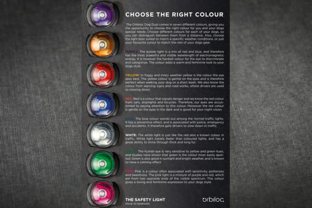 Orbiloc Dog Dual veiligheidslichtje LED - kleuren