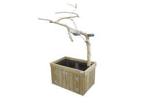 Papegaaienboom op kast