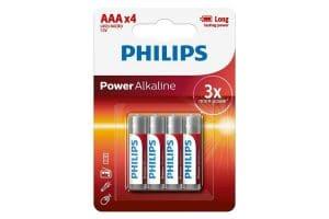 Philips AAA Power Alkaline 1,5 volt batterij 4st