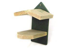 Pindakaashuisje met groen geverfde achterkant