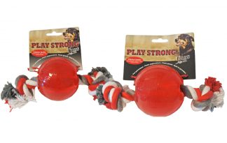 Play Strong rubber bal met flostouw