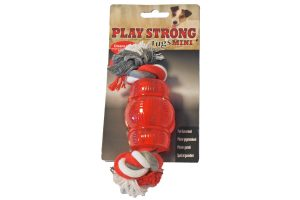 Play Strong rubber Mini Chew met flostouw