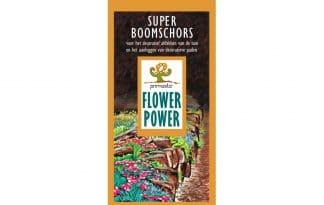 De Flower Power Super Boomschors is gedroogde Pinus maritime schors. Deze Super Boomschors is lekker groot, namelijk wel 20 tot 45 mm. Het is een zeer decoratief natuurproduct, dat geschikt is voor het afdekken van tuinen en het aanleggen van paden.
