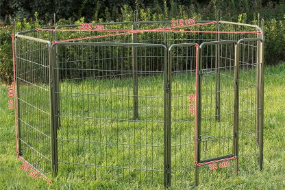 Puppyren Hammertone 8 panelen - 100 cm hoog