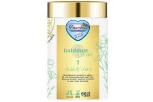 Renske Golddust Huid & Vacht bevat veel natuurlijk aanwezige vitaminen, mineralen, aminozuren en essentiële vetzuren en vezels