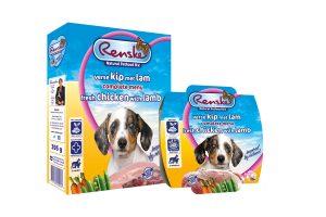 Renske Puppy/Junior Kip & Lam complete vers vlees voeding