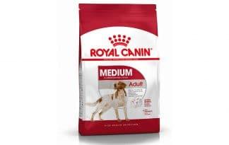 Royal Canin Medium Adult is een volledige voeding voor de middelgrote, volwassen rassen met een gewicht van 10 kg tot 25 kg.