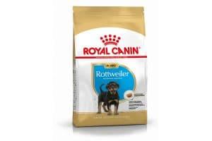 Royal Canin Junior Rottweiler is een rasspecifieke voeding voor Rottweiler pups tot 18 maanden.