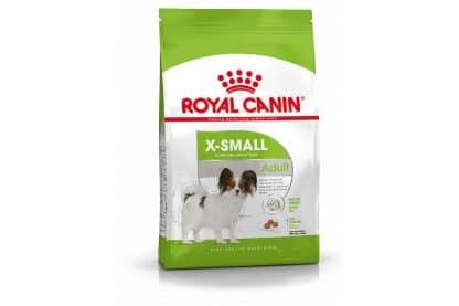 Royal Canin X-Small Adult is een volledige voeding voor volwassen, zeer kleine honden met een gewicht tot 4 kg.
