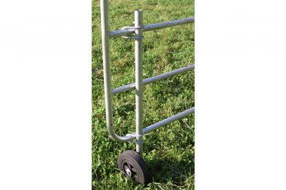 Rubberen wiel voor poort