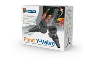 De Superfish Waterverdeler Y-Valve heeft één inlaat en twee uitlaten. Beide uitlaten kunnen individueel worden geregeld, waardoor deze Y-verdeler zeer praktisch is.