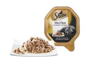 Sheba Mini Filets in Saus Kip en Lam is een luxe mix van malse reepjes in een overheerlijke saus. Het perfecte recept om jouw lieveling te verwennen. Heerlijk mals vlees in lekkere saus om dagelijks van te smullen.