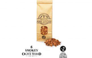 Smokey Olive Wood N2 rookchips met vuurkruiden - 500 ml