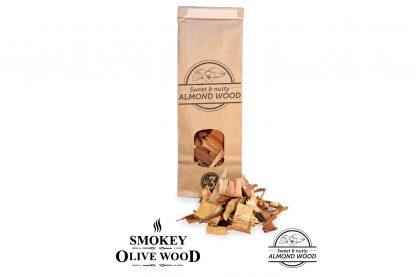 Smokey Olive Wood amandelhout rookchips - 500 ml