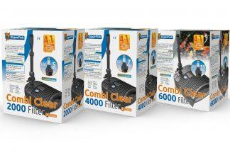 Superfish Combi Clear onderwaterfilter is de oplossing voor de kleine vijver, de 4-in-1 filter met pomp, UVC, filtermedia en fonteinsproeikop.