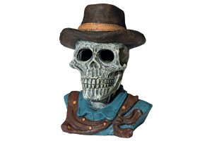 SuperFish Deco LED Skull Cowboy
