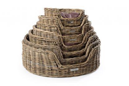 51DegreesNorth Basket ovale hondenmand met kussen