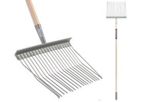 Talen Tools metalen paardenstalvork compleet