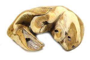 Reptielengrot van teak hout
