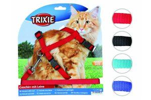Trixie harnas kat groot, effen kleuren