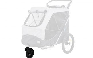 De Trixie hondenfietskar jogging-voorwiel zorgt voor een hoog rijcomfort ook op oneffen terrein. Dit is de perfecte toevoeging aan uw fietskar, omdat het op deze manier ook een wandelwagen kan worden.