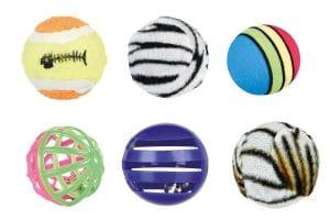 Deze 6-delige set met kattenspeelballen van Trixie zorgt voor uren vermaak! Gemaakt van verschillende materialen en in verschillende groottes. De ballen hebben een gemiddelde diameter van 4 centimeter.