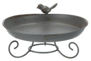 Trixie vogelbad metaal op standaard