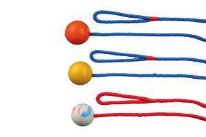 Trixie bal aan touw
