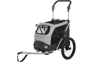 De Trixie hondenfietskar is voorzien van een snelvouw-functie, waardoor u hem in enkele seconden in en uit elkaar kan halen