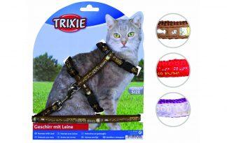 Trixie harnas kat met lijn, met print