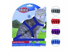 Trixie harnas voor katten met lijn en reflectie