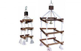 Trixie houten vogelspeelgoed 4-zijdige klimtoren