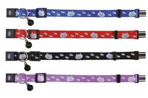 De Trixie kattenhalsband kattenmotief reflecterend is gemaakt van kunststof. Het bandje is reflecterend voor extra veiligheid in het donker en heeft daarnaast ook een belletje.