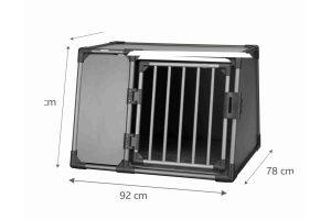 Trixie vervoersbox autobox zijkant grafiet zwart large