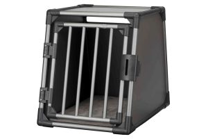 Trixie vervoersbox autobox zijkant grafiet zwart medium